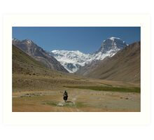 Adventure cycling, Tajikistan Art Print