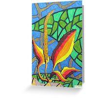 230 - FLORAL DESIGN - 02 - DAVE EDWARDS - COLOURED PENCILS - 2008 Greeting Card