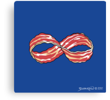 The Shirt of Infinite Bacon Canvas Print