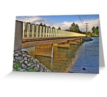 Bridging The Gap # 2 - Narrabeen Lakes - The HDR Series Greeting Card