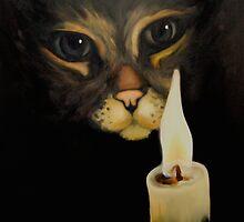 Cat & Candle by littlegirlbluue