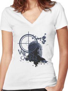 Vatican Cameos - BBC Sherlock [John Watson] Women's Fitted V-Neck T-Shirt