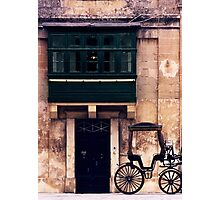 Silent Cart in Silent City Photographic Print