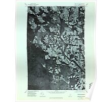 Maine USGS Historical Map Mars Hill SW 806886 1975 24000 Poster