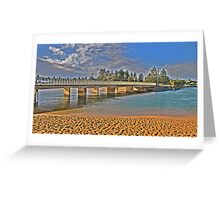 Bridging the Gap - Narrabeen Lakes - The HDR Series Greeting Card