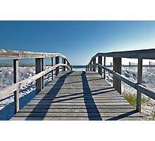 Boardwalk leading to the beach Photographic Print