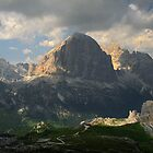 Evening at Cinque Torri by Lenka