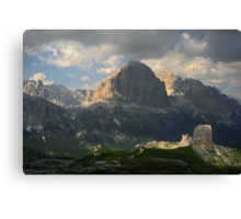 Evening at Cinque Torri Canvas Print