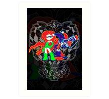 Ivy & Harley V2 - Gothamettes Art Print