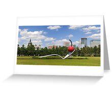 Minneapolis, Minnesota spoon and cherry sculpture Greeting Card