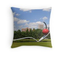 Minneapolis, Minnesota spoon and cherry sculpture Throw Pillow