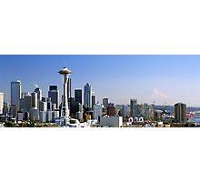 Seattle Washington Skyline and Puget Sound Photographic Print