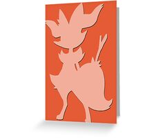 Braixen Pokémon #654 Shape (Silhouette) Greeting Card