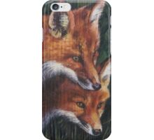 Two Foxes iPhone Case/Skin