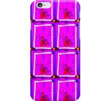Patterned Mauve Bloc iPhone Case/Skin