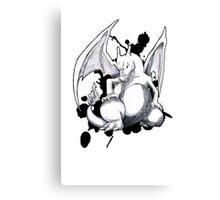 Pokemon - A Charizard Sketch (White Background) Canvas Print