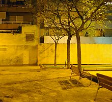 poble nou at night by ballain77