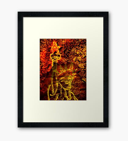Glenn Beck: Connections In A Paranoid Mind Framed Print