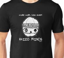 Kaizo Minds - More Work, Less Sleep [Oscar Logo - Black] Unisex T-Shirt