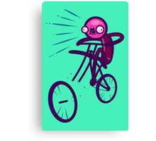 Cycling Disaster Canvas Print
