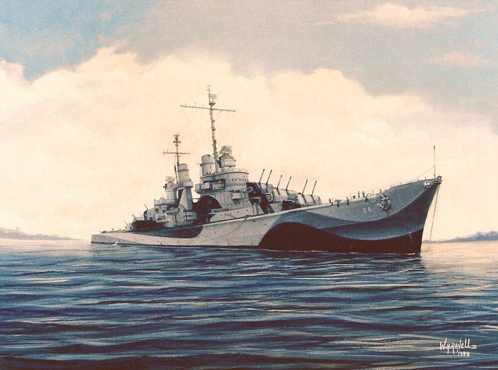 USS San Juan - Cruiser by William H. RaVell III