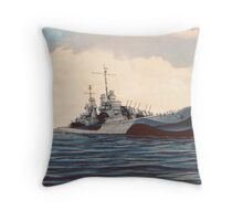 USS San Juan - Cruiser Throw Pillow