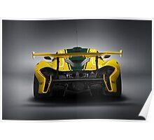 McLaren P1 GTR Rear Poster