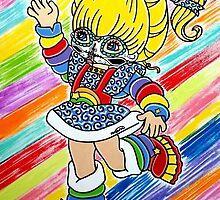 Sugar Skull Rainbow Brite by Katherine  OGane