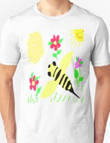 Happy Honey Bee T-shirt Unisex T-Shirt