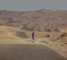 Desert road, Egypt by Peter Gostelow