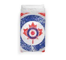 Grunge Mod Target Roundel Canada Duvet Cover