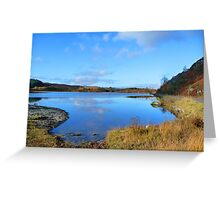 Loch Rotmell in Autumnal Weather Greeting Card