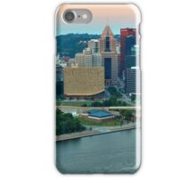 Pittsburgh Slyline Pink Sunrise iPhone Case/Skin