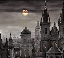 BW Prague City of hundres spiers by Yuriy Shevchuk
