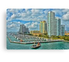 Colorful  Miami  Canvas Print