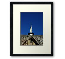 Slate Roof with Steeple Framed Print