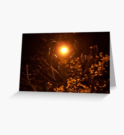 An Autumn`s Night  Greeting Card