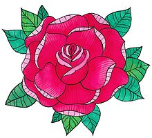 RED ROSE by FloraminaDesign