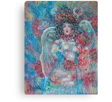 Singing Garden Angel Canvas Print
