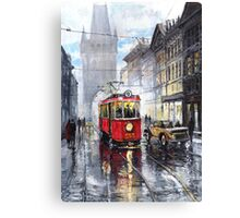 Prague Old Tram 06 Canvas Print