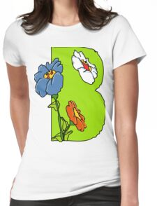 Letter B Womens Fitted T-Shirt
