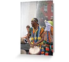 New York Drummer Greeting Card