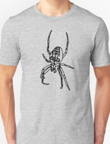 Spider - Lines - Black T-Shirt