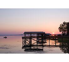 Fishing at last light . . . Photographic Print