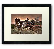 Old Fordson Pump Framed Print