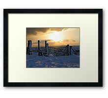 Caburn summit snow Framed Print