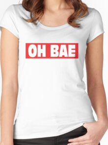OH BAE - OBEY Women's Fitted Scoop T-Shirt