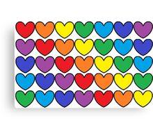 Heart Rainbow Canvas Print