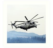 Marine Helicopter At Air Show Art Print
