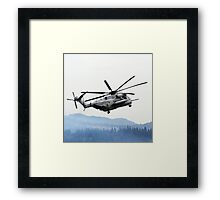 Marine Helicopter At Air Show Framed Print